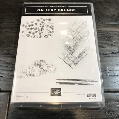 Gallery Grunge Clear-Mount Stamp Set