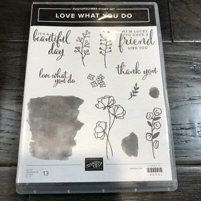Love What You Do Photopolymer Stamp Set