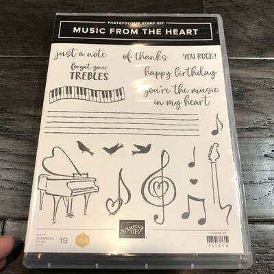 Music From the Heart Photopolymer Stamp Set