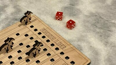 Horse Racing Dice Game - Laser Engraved