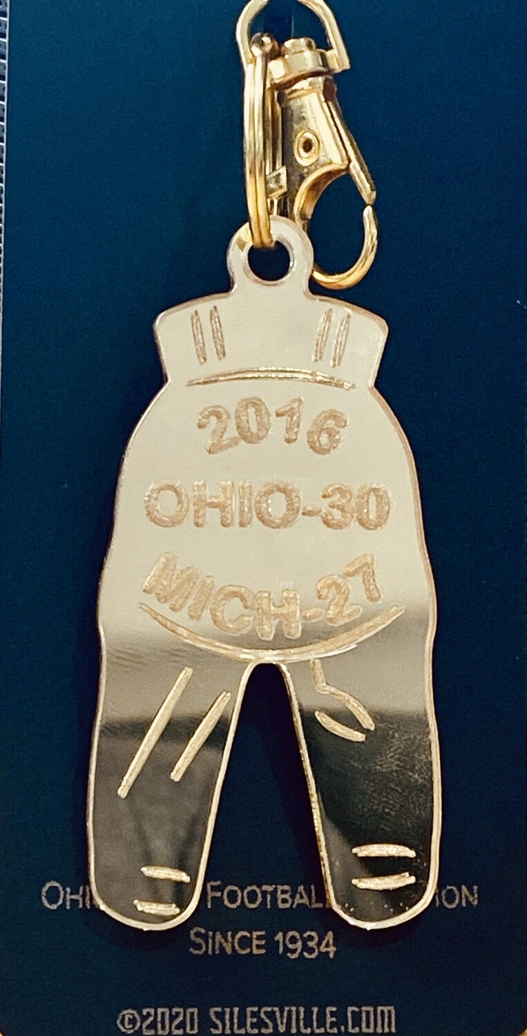 Ohio State Gold Pants Keychain - All Years (1934-2019)