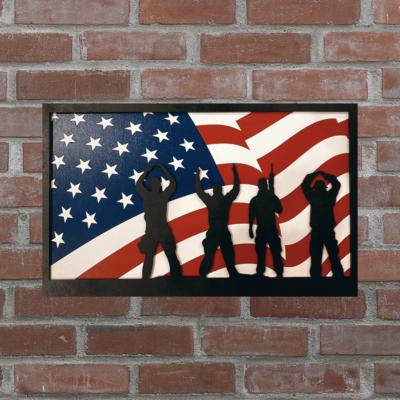 O-H-I-O USA Patriotic Flag