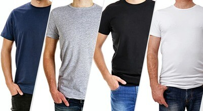 4 Egyptian Cotton T-shirts Offer