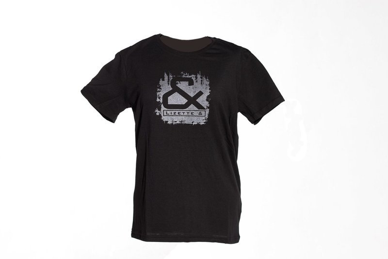 T-shirt with silver print