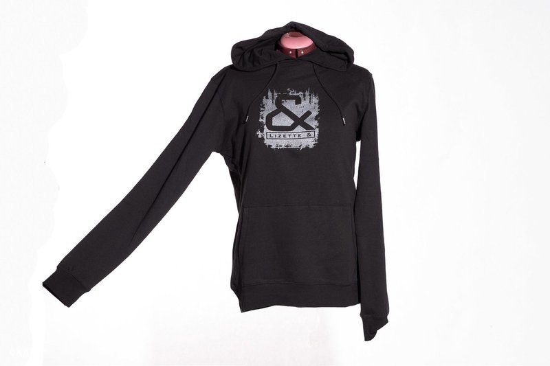 Hoodie with silver print