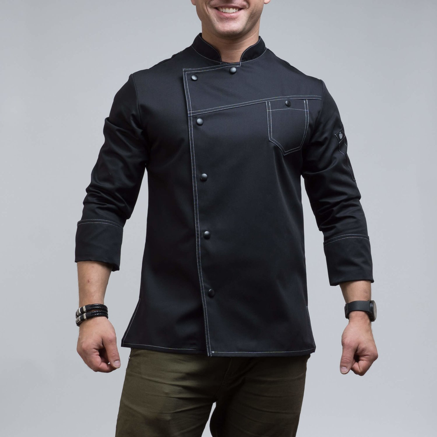 140BLACK - CHEF'S JACKET