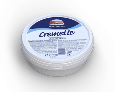 Сыр Креметте Professional творожный 65% 2 кг, Креметте, Россия