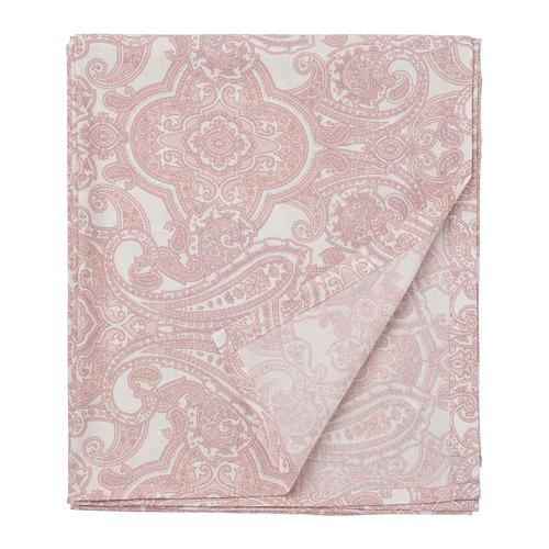 ЙЭТТЕВАЛЛМО Простыня, белый, розовый  240х260