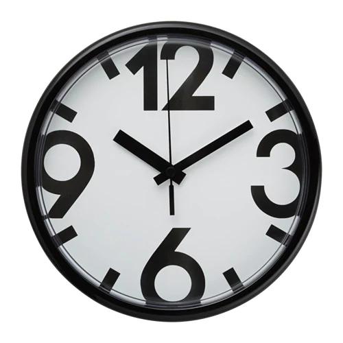 Настенные часы ЮККЕ, белый, черный, 25 см
