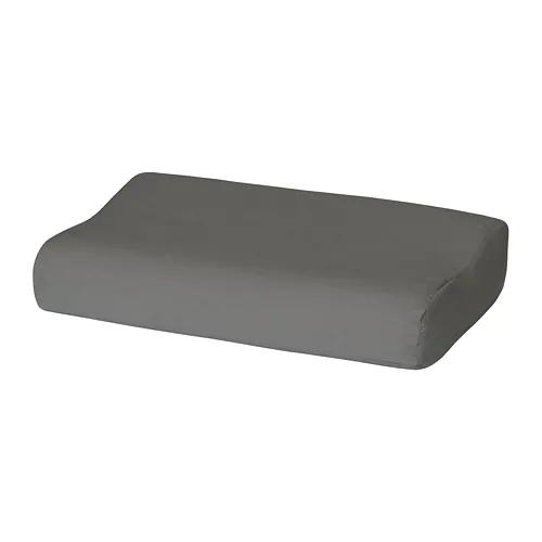 РОЛЛЕКА Наволочка д/подушки(ппу/эфф памяти), серый, 33x50 см