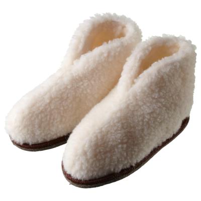 ФЕГЕН Домашние тапочки, белый, L/XL (Размер обуви: 41–44)