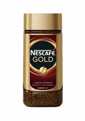 Кофе Nescafe GOLD натуральный растворимый стекло 190г