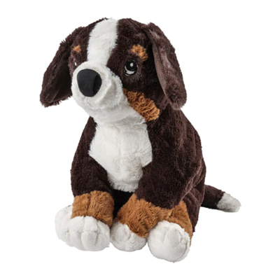 ХОППИГ Мягкая игрушка, собака, бернская овчарка белый 36 см