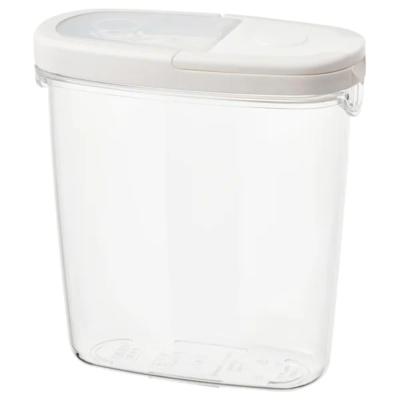 ИКЕА/365+  Контейнер+крышка д/сухих продуктов, прозрачный, белый, 1.3 л