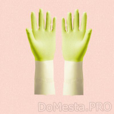 ПОТКЕС Резиновые перчатки, зеленый, M