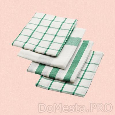 ЭЛЛИ Полотенце кухонное, белый, зеленый