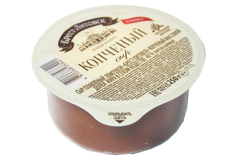 """Сыр плавленый, ломтевой, копченый, """"Брест-Литовск"""" 40% 250г в/у"""