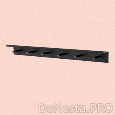 FALSTERBO Полка настенная с крючками, металл
