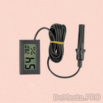 Цифровой  термометр гигрометр с выносным датчиком