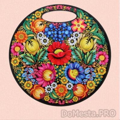 Доска сувенирная круглая деревянная/30 см