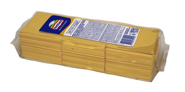 Сыр плавленный ломтевой Бистро Чеддар, 1,033 кг, Хохланд Проф