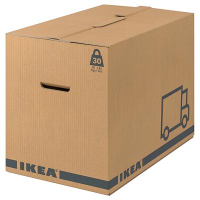 ЭТЭНЕ Упаковочная коробка, коричневый, 56x33x41 см