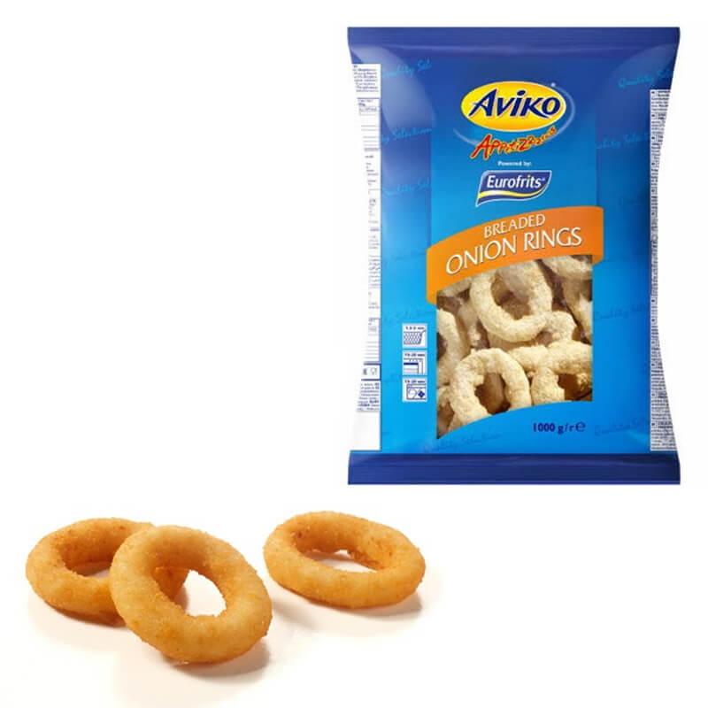 Луковые кольца в панировке AVIKO (замороженные), 1 кг.