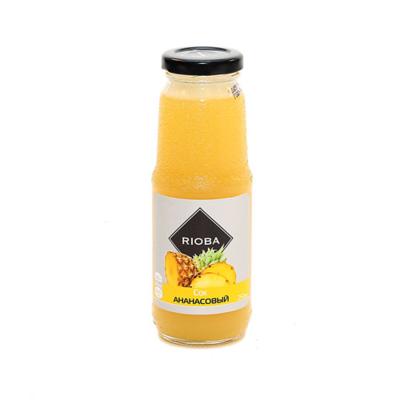 Сок ананасовый с мякотью RIOBA, 0,25л.
