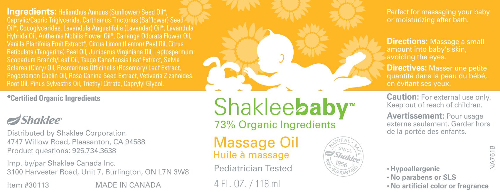 Shakleebaby Massage Oil