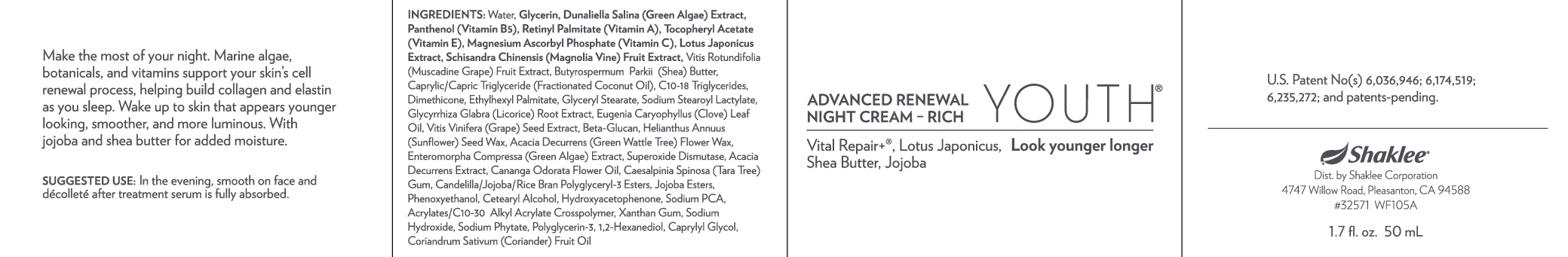 Advanced Renewal Night Cream- Rich