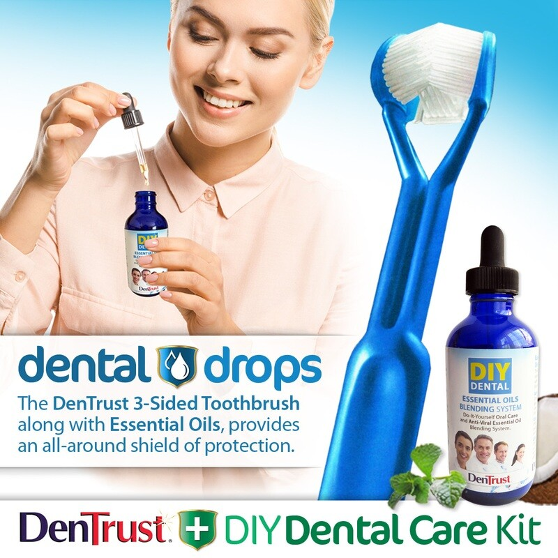 Dentrust + DIY Dental Care Kit :: Dental Drops :: Essential Oils & Coconut Oil Blending System :: Easily Prevent Gum Disease :: Antibacterial Antimicrobial