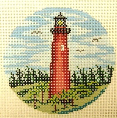 Jupiter Lighthouse  (handpainted from Needle Crossing)