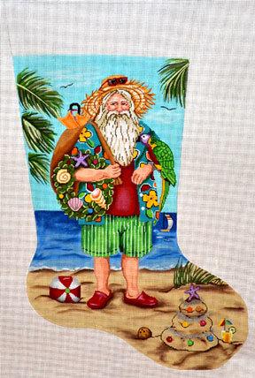 Tropical Stocking   (Handpainted by Gayla Elliott Designs)