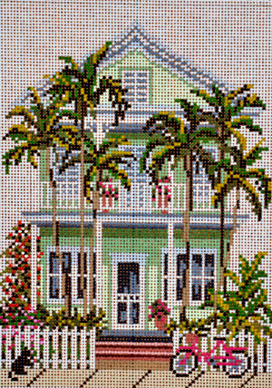 Island House     (handpainted by Needle Crossing)