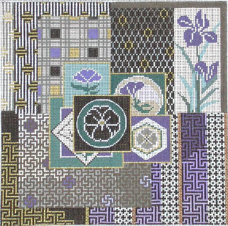 Japanese Quilt     (handpainted from Mindy's Needlepoint Factory)