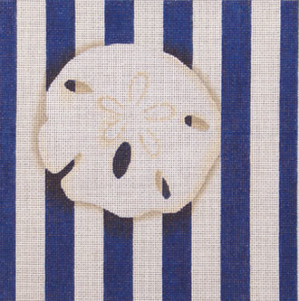 Sand Dollar Square Stripe    (handpainted from Associated Talents)
