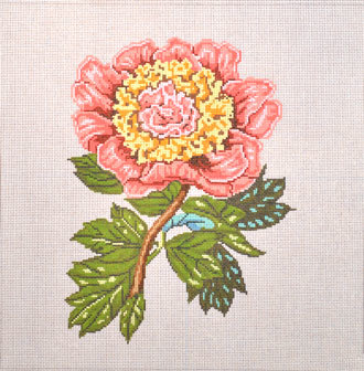 Pink Peony    (handpainted by All About Stitching)