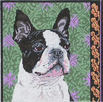 Boston Terrier       (Handpainted by Barbara Russell Designs)