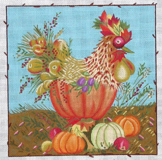 Harvest Rooster  (handpainted by Melissa Shirley)