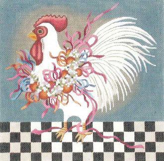 Ribbon Chicken    (handpainted by Melissa Shirley)