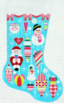 Glitzy Ornament Stocking (Handpainted by Shelly Tribbey Designs)