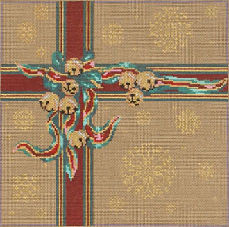 Christmas Package  (Handpainted needlepoint canvas from The Point of it All Designs)