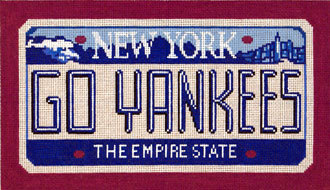 Go Yankees       (Handpainted by CBK Needlepoint Collection)