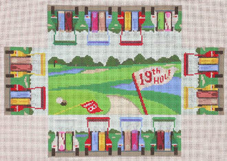 Golf Carts Brick Cover   (handpainted by Susan Roberts)