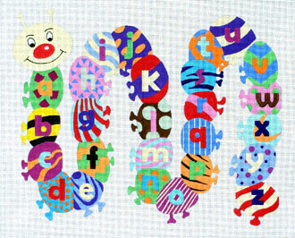 Caterpillar Alphabet   (Handpainted by Alice Peterson Company)