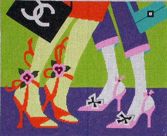 Fancy Shoes   (Handpainted by Lee's Needle Art, Inc)