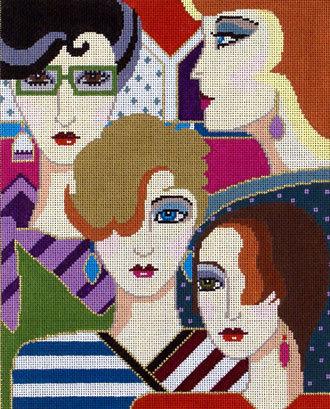 Girls Club  (Handpainted by Barbara Russell Designs)