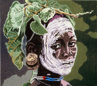 African Fashion Lady  (Hand Painted by Barbara Russell)