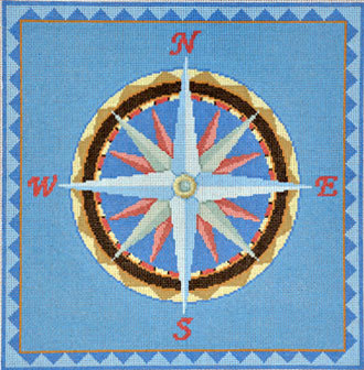 Nautical Compass  (handpainted by Susan Roberts)