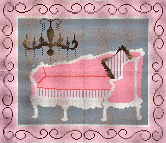 French Chaise Lounge   (Handpainted by Shelly Tribbey Designs)